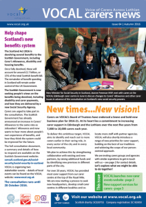News and update for carers in Edinburgh